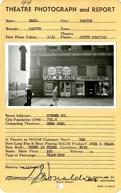 South Station Theatre in Boston, MA - Cinema Treasures