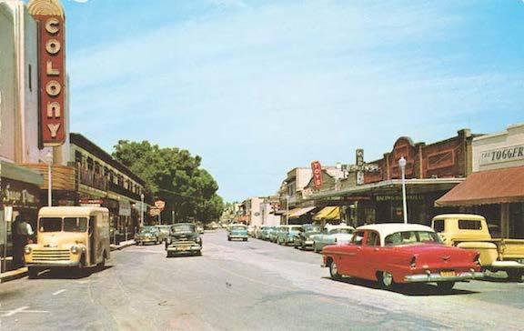 Circa 1955 postcard.