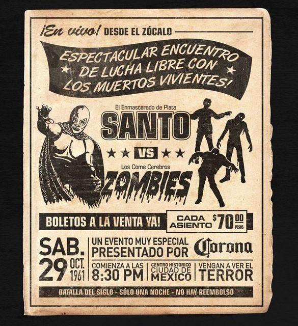 SANTO VS  ZOMBIES