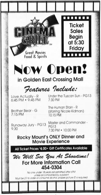 Rocky Mount Cinema Grill