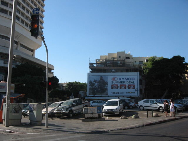 Parking lot that replaced the Moghrabi Theatre