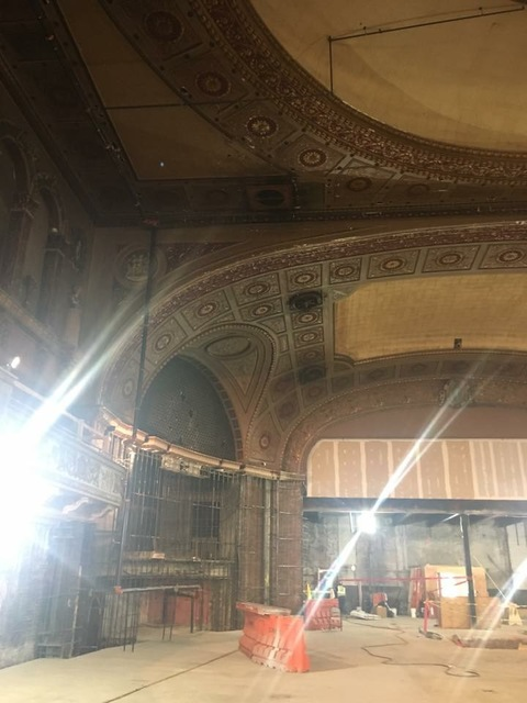 Walker Theater during conversion to Target