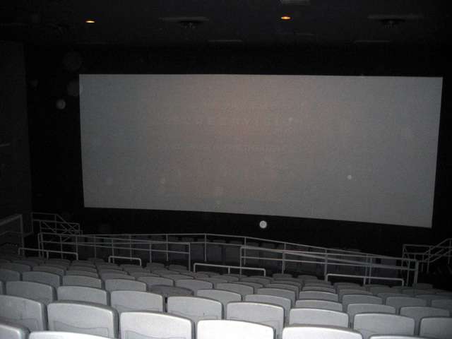 Screen 1.  The original Loews seating