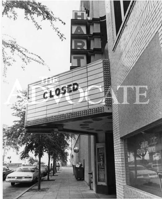 Hart Theater closed sign