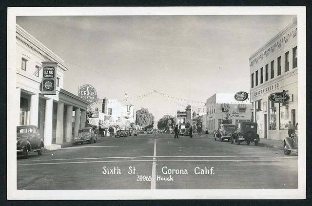 Circa 1930s photo via History Of Corona Facebook page.