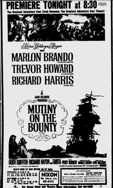 MUTINY ON THE BOUNTY- 1962