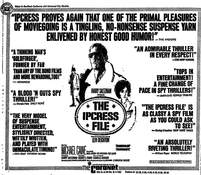 IPCRESS FILE (1965)