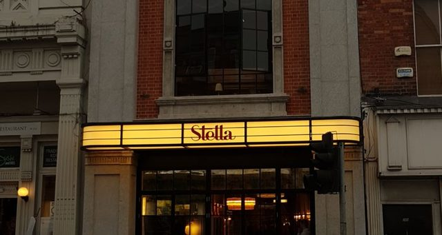 Newly restored facade of the stella