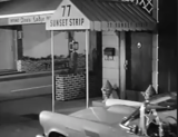Filming of 77 Sunset Strip were the Tiffany Theater was.