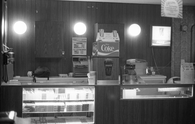 Devon Theatre, Candy Counter, 1979