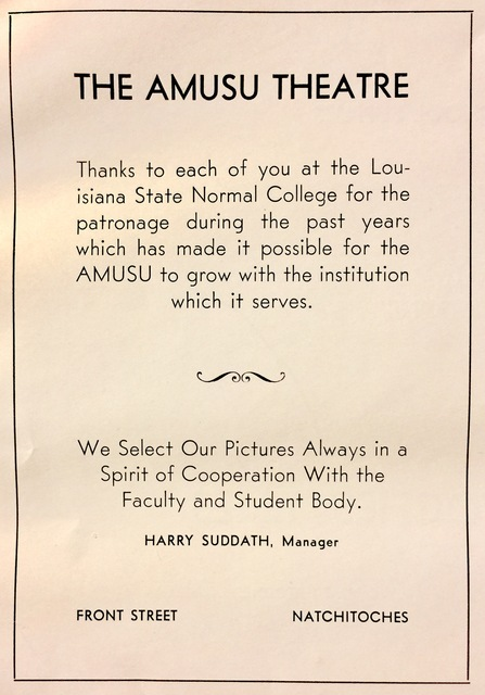 Amusu Theatre Ad (1940)