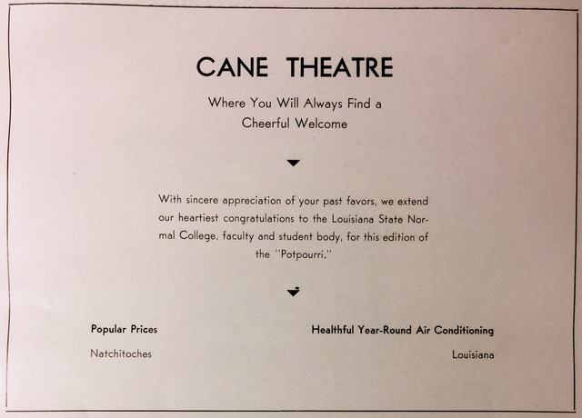 Cane Theatre Ad (1940)
