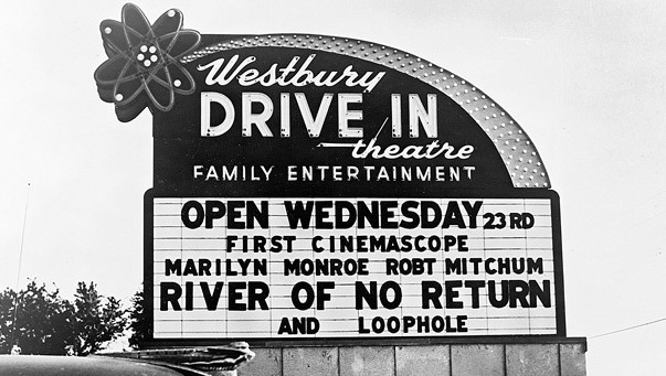 Westbury Drive-In marquee sign