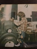Me doing a change over at 17 years old in 1977.