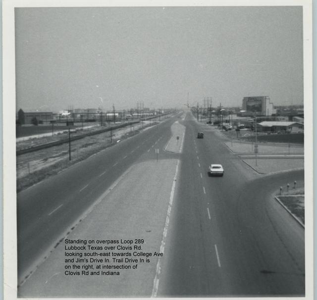 Trail Drive In Lubbock Texas circa 1963