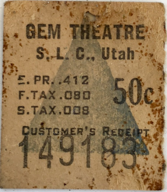 GEM Theater ticket stub found while renovating 1914 bungalow near downtown SLC