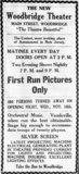 Opening week Ad Woodbridge Theatre 11-18-1921
