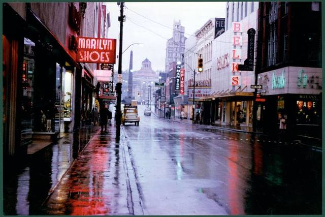 """""""Neon Rain""""-1963 photo credit Pack Library/Special Collections."""