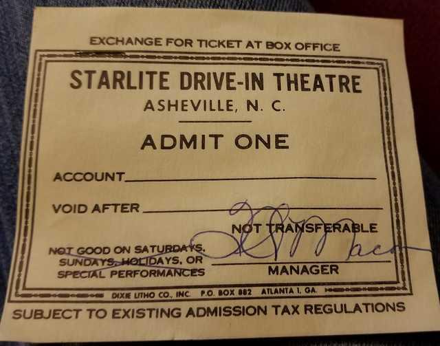Ticket courtesy of Jennifer Smith Carter.