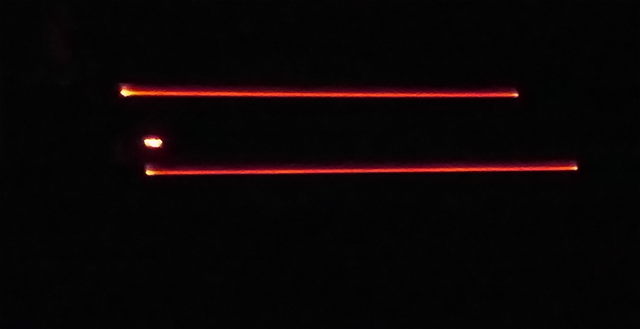 Vue West End – Screen 6 – Red LED strips on step edges; house lights not raised after screening.