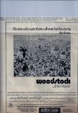"May 1, 1970 print ad for ""Woodstock"", from unamed college newspaper."