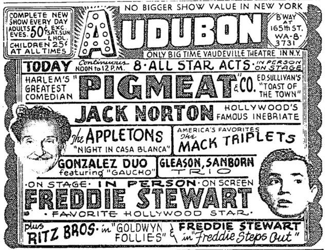 Audubon Theatre NY Times ad Nov. 21, 1948