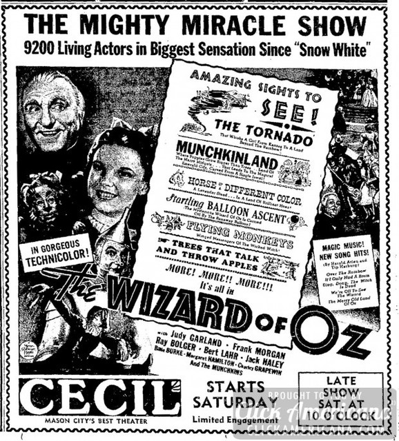 WIZARD OF OZ(SEPT 1,1939)