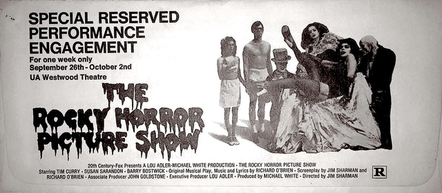 """The Rocky Horror Picture Show"" Reserved Seat Performance Engagement - 1975"