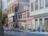 Artists rendering of the re-purposed facade.