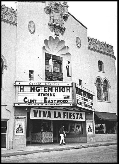 Morbid photo of the Lensic in 1968.