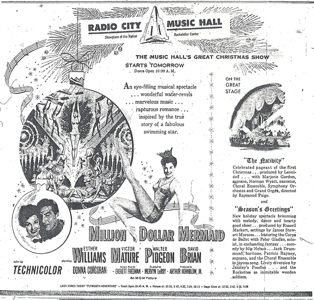 MILLION DOLLAR MERMAID(DEC.4,1952 RELEASE)
