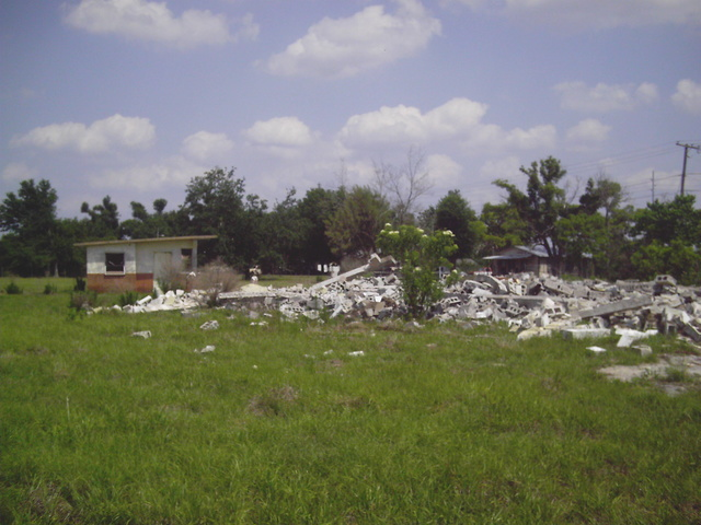 What was left of the tower in 2004