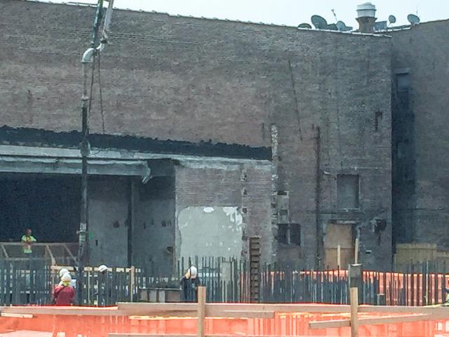 Loew's demolition seen from Huguenot St, summer 2017
