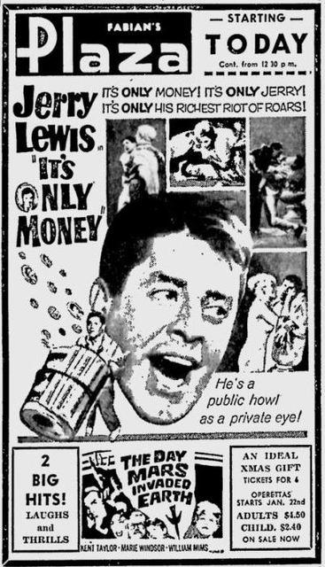 IT'S ONLY MONEY(AD DEC.19,1962)