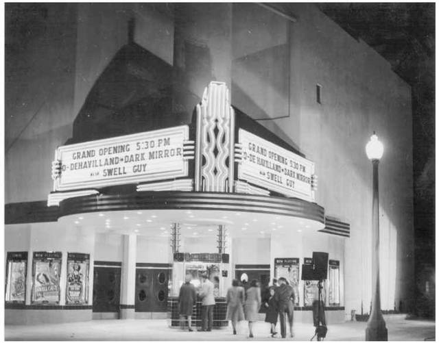lorenzo theater opening night APRIL 1947