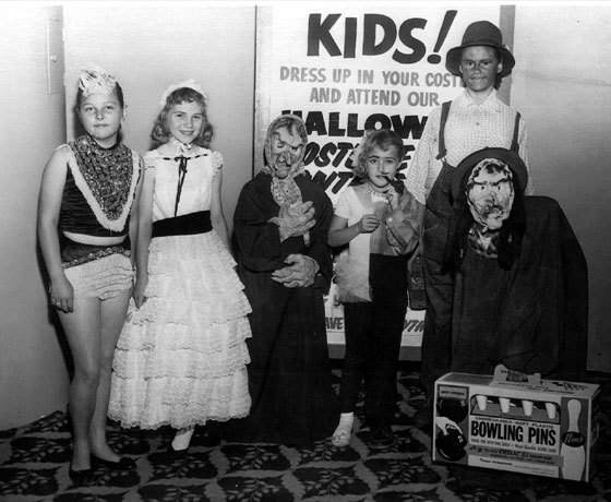 Halloween at the lorenzo theater 1950s