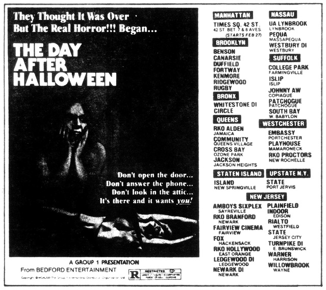 THE DAY AFTER HALLOWEEN(1979)