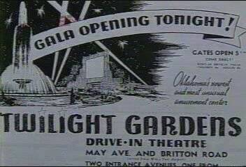 Twi-Light Gardens Opening Night Advert.