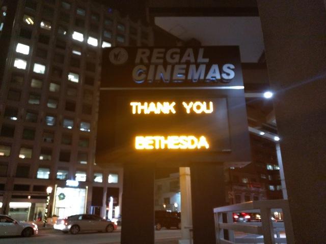 Regal Bethesda Goodbye