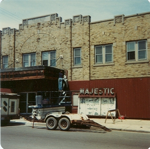 MAJESTIC Theatre, Cudahy WI at time of closure, 1981.