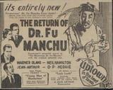RETURN OF FU MANCHU(1930)