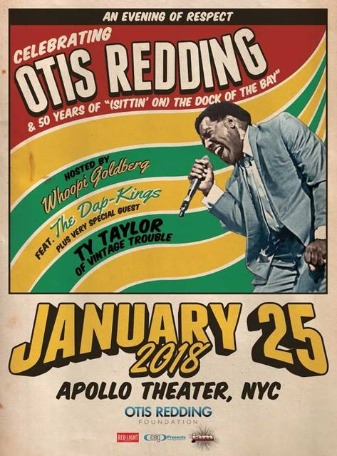 Poster for upcoming show honoring Otis Redding.