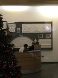 Plaza Cinema plasterwork fragments in lobby of offices entrance on  Jermyn St