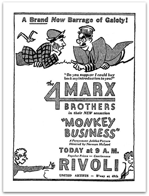 MONKEY BUSINESS(1931)