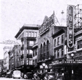 """<p>Eagle eyes may spot the banner for the Loew's Regent across Market Street to promote """"Bulldog Drummond"""" in 1934 in Scranton with the theatre at right.</p>"""