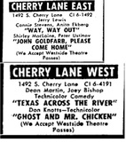 "[""Cherry Lane Drive-In""]"