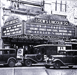 <p>1935 shot of the Loew's Lincoln Square in New York</p>