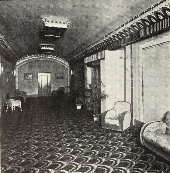 Mezzanine, Broadway Theatre, Eccles, 1932
