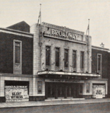 Entrance, Broadway Theatre, Eccles, 1932