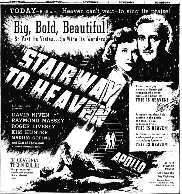 STAIRWAY TO HEAVEN(1946)
